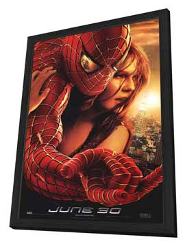 Spider-Man 2 - 27 x 40 Movie Poster - Style H - in Deluxe Wood Frame