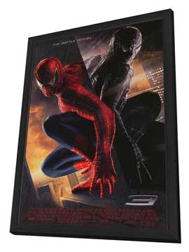 Spider-Man 3 - 27 x 40 Movie Poster - Style C - in Deluxe Wood Frame