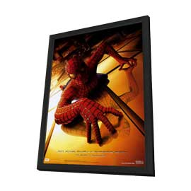 Spider-Man - 27 x 40 Movie Poster - Style B - in Deluxe Wood Frame