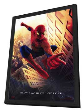 Spider-Man - 27 x 40 Movie Poster - Style A - in Deluxe Wood Frame