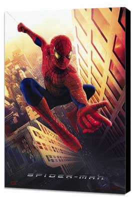 Spider-Man - 27 x 40 Movie Poster - Style A - Museum Wrapped Canvas