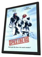Spies Like Us - 27 x 40 Movie Poster - Style A - in Deluxe Wood Frame