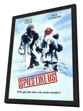 Spies Like Us - 11 x 17 Movie Poster - Style C - in Deluxe Wood Frame