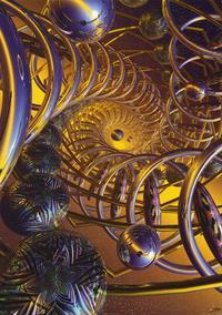 Spiral Fractal - Art Poster - 24 x 36 - Style B