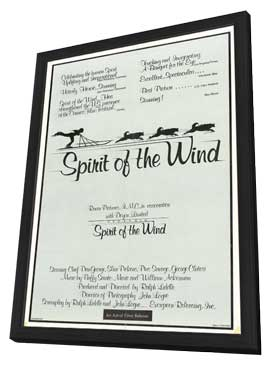 Spirit of the Wind - 27 x 40 Movie Poster - Style A - in Deluxe Wood Frame