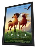 Spirit: Stallion of the Cimarron - 11 x 17 Movie Poster - Style C - in Deluxe Wood Frame