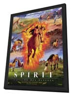 Spirit: Stallion of the Cimarron - 11 x 17 Movie Poster - French Style A - in Deluxe Wood Frame