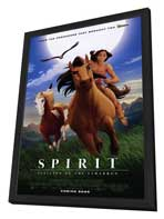 Spirit: Stallion of the Cimarron - 27 x 40 Movie Poster - Style B - in Deluxe Wood Frame