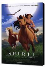 Spirit: Stallion of the Cimarron - 11 x 17 Movie Poster - Style D - Museum Wrapped Canvas