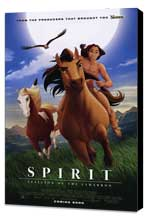 Spirit: Stallion of the Cimarron - 27 x 40 Movie Poster - Style B - Museum Wrapped Canvas