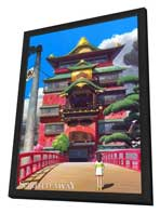 Spirited Away - 11 x 17 Movie Poster - Style B - in Deluxe Wood Frame