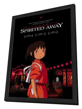 Spirited Away - 11 x 17 Movie Poster - Style E - in Deluxe Wood Frame