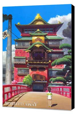 Spirited Away - 11 x 17 Movie Poster - Style B - Museum Wrapped Canvas