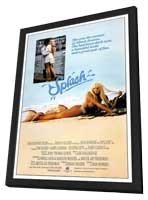 Splash - 27 x 40 Movie Poster - Style B - in Deluxe Wood Frame