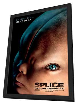 Splice - 11 x 17 Movie Poster - Style A - in Deluxe Wood Frame