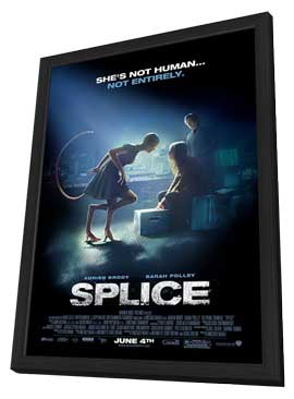Splice - 27 x 40 Movie Poster - Style B - in Deluxe Wood Frame