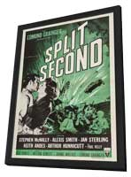 Split Second - 27 x 40 Movie Poster - Style A - in Deluxe Wood Frame