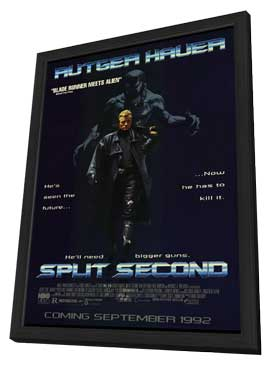 Split Second - 27 x 40 Movie Poster - Style B - in Deluxe Wood Frame