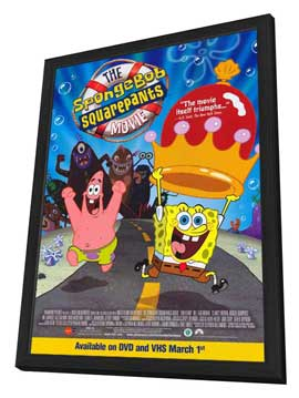 SpongeBob SquarePants Movie - 27 x 40 Movie Poster - Style E - in Deluxe Wood Frame