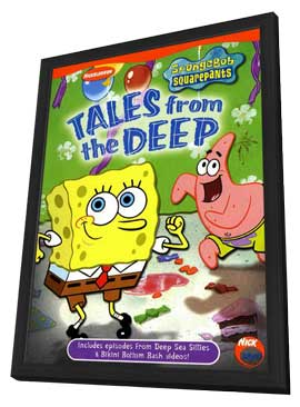 SpongeBob SquarePants - 11 x 17 Movie Poster - Style A - in Deluxe Wood Frame