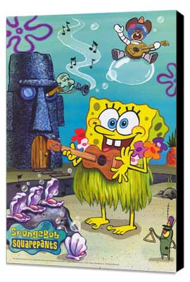 SpongeBob SquarePants - 11 x 17 TV Poster - Style C - Museum Wrapped Canvas