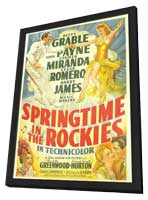 Springtime in the Rockies - 11 x 17 Movie Poster - Style A - in Deluxe Wood Frame