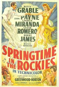 Springtime in the Rockies - 11 x 17 Movie Poster - Style A