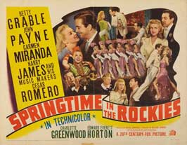 Springtime in the Rockies - 22 x 28 Movie Poster - Half Sheet Style B