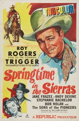 Springtime in the Sierras - 27 x 40 Movie Poster - Style A