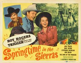 Springtime in the Sierras - 11 x 14 Movie Poster - Style A