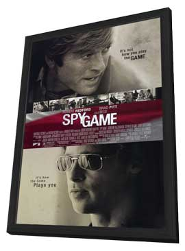 Spy Game - 27 x 40 Movie Poster - Style A - in Deluxe Wood Frame