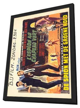 Spy in the Green Hat - 11 x 17 Movie Poster - Belgian Style A - in Deluxe Wood Frame