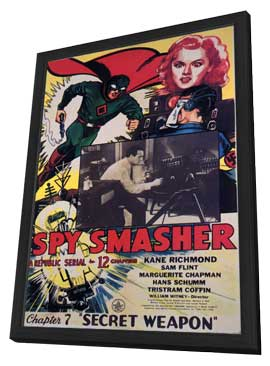 Spy Smasher - 11 x 17 Movie Poster - Style D - in Deluxe Wood Frame