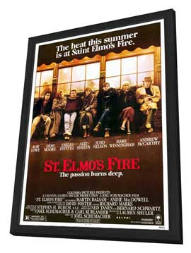 St. Elmo's Fire - 11 x 17 Movie Poster - Style A - in Deluxe Wood Frame