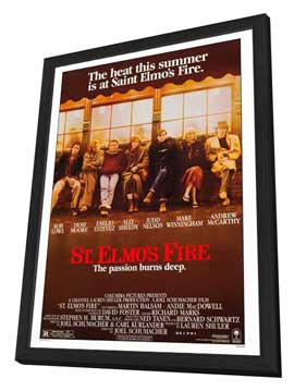 St. Elmo's Fire - 27 x 40 Movie Poster - Style A - in Deluxe Wood Frame