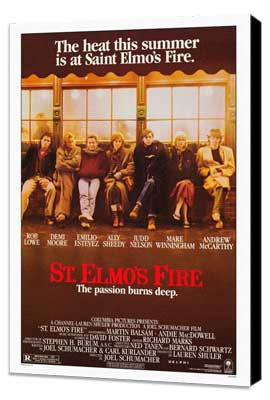 St. Elmo's Fire - 27 x 40 Movie Poster - Style A - Museum Wrapped Canvas