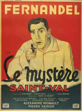St. Val's Mystery - 11 x 17 Movie Poster - French Style A