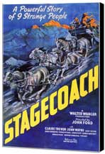 Stagecoach - 11 x 17 Museum Wrapped Canvas