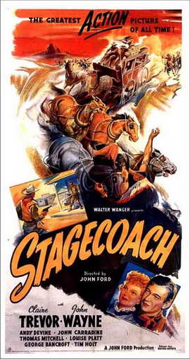 Stagecoach - 11 x 17 Movie Poster - Style H