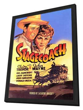 Stagecoach - 27 x 40 Movie Poster - Style B - in Deluxe Wood Frame