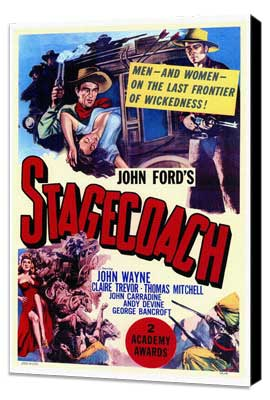 Stagecoach - 27 x 40 Movie Poster - Style A - Museum Wrapped Canvas