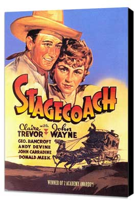 Stagecoach - 27 x 40 Movie Poster - Style B - Museum Wrapped Canvas