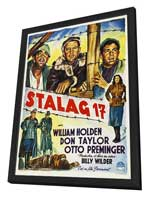 Stalag 17 - 27 x 40 Movie Poster - Style B - in Deluxe Wood Frame