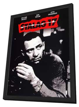 Stalag 17 - 11 x 17 Movie Poster - Style C - in Deluxe Wood Frame