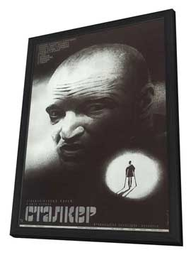 Stalker - 11 x 17 Movie Poster - Russian Style A - in Deluxe Wood Frame