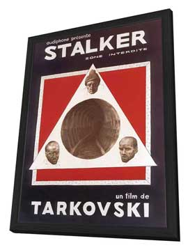 Stalker - 27 x 40 Movie Poster - French Style B - in Deluxe Wood Frame