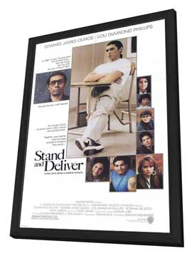 Stand and Deliver - 27 x 40 Movie Poster - Style A - in Deluxe Wood Frame
