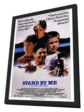 Stand by Me - 27 x 40 Movie Poster - Style A - in Deluxe Wood Frame