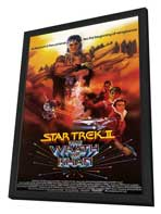 Star Trek 2: The Wrath of Khan - 11 x 17 Movie Poster - Style B - in Deluxe Wood Frame