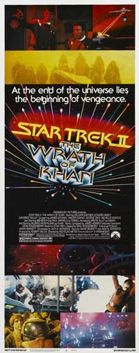 Star Trek 2: The Wrath of Khan - 14 x 36 Movie Poster - Insert Style A